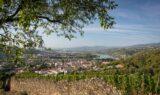 paysage vignes, villages et fleuve